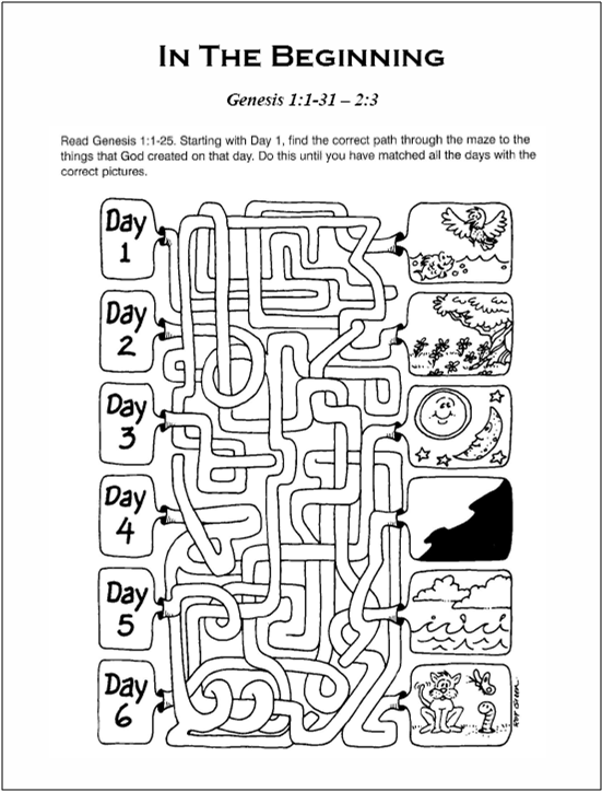 graphic regarding Sunday School Printable Worksheets called Absolutely free Sunday Higher education Curriculum - House